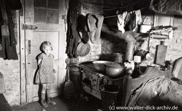 Notunterkunft in einem Kölner Keller