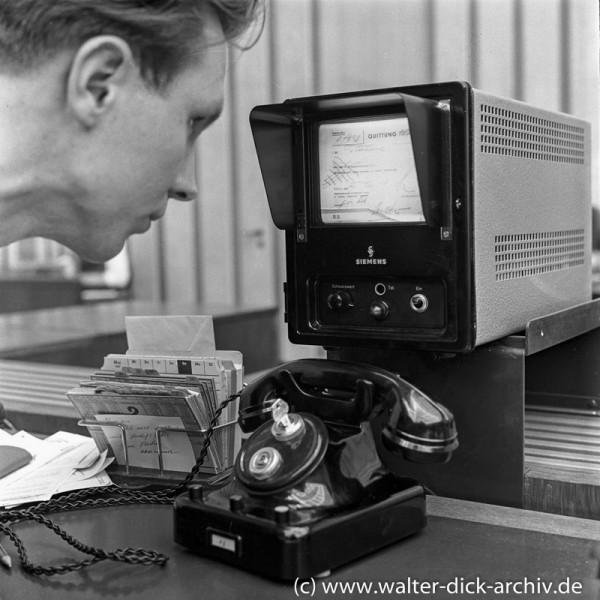 Autoschalter der Sparkasse - Kontenverwaltung1961