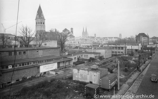 Rückseite der Hahnenstraße 1954