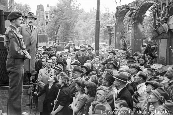 Eröffnung der Entschuttungsaktion 1946