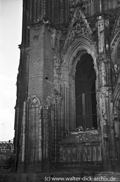 """Die """"Ziegelsteinplombe"""" am Kölner Dom"""