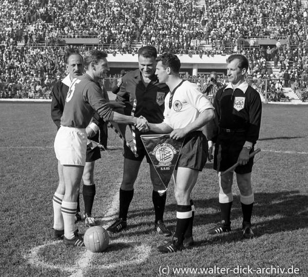 Fußball WM Chile Deutschland : Schweiz 1962