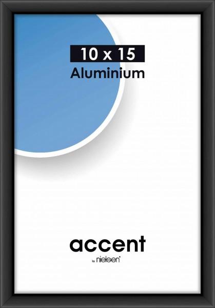 Nielsen ACCENT Alurahmen GÜNSTIG - 10x15 cm - Schwarz matt