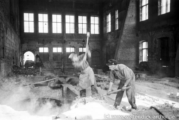 Wiederaufbau des Gürzenich 1953