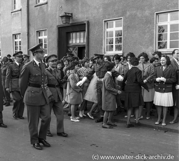 König Baudouin beim Besuch in Köln 1961