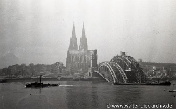 Wiederaufbau der Hohenzollernbrücke