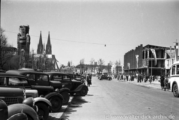 1948 Textilmesse-Blick von der Messe zum Dom