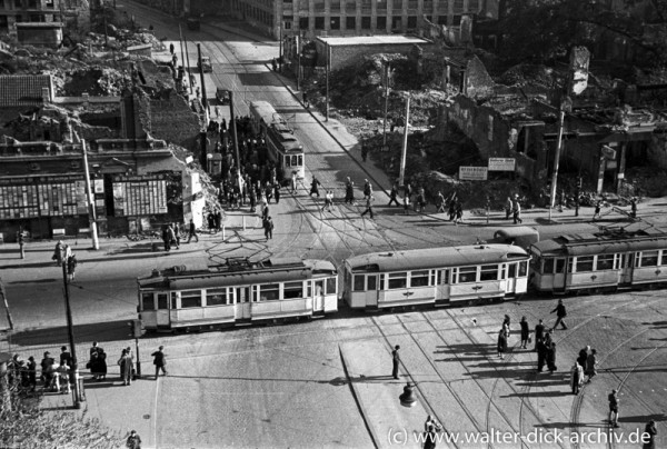 Nachkriegsverkehr in Köln