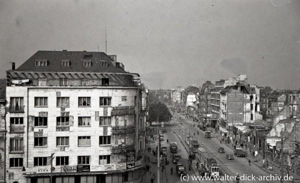 Blick vom alten Kölner Opernhaus