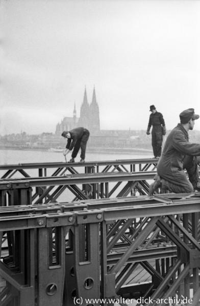 Bau der Pattonbrücke in Köln