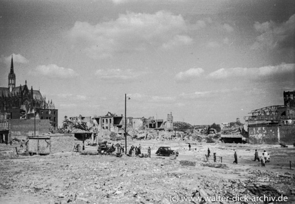 Hohe Straße 1949 ohne Gebäude