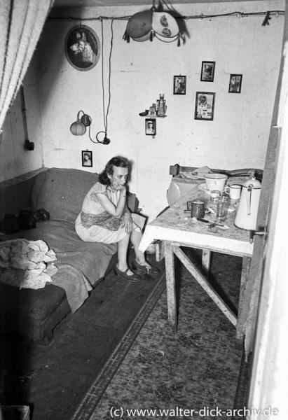 Wohnraum in einer Notunterkunft