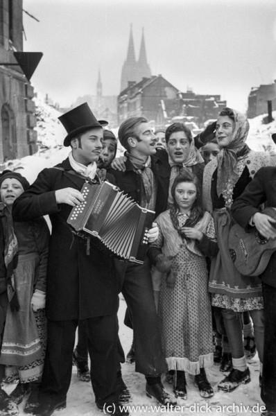 Karneval in der Ritterstraße 1946