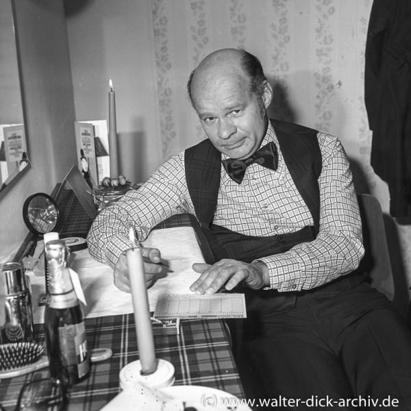 Ralph Wolter beim Lottotip 1962