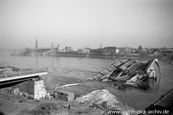 Zerstörte Kölner Brücken