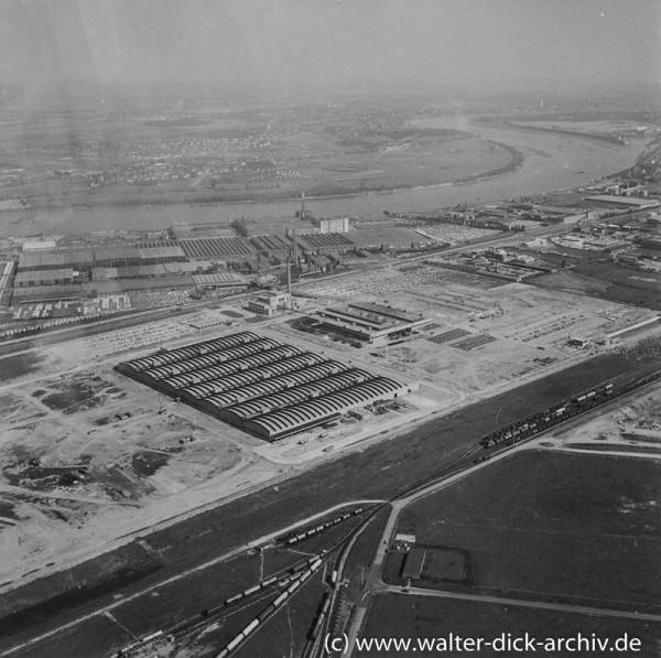 Luftaufnahme der Kölner Ford Werke